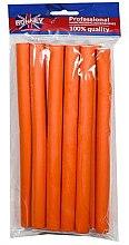 Духи, Парфюмерия, косметика Бигуди для волос гибкие 16/210 мм, оранжевые - Ronney Professional Flex Rollers RA 00038