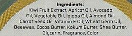 """Натуральный аюрведический бальзам для губ """"Киви"""" с пчелиным воском и мёдом - Khadi Organique Kiwi Fruit Lip Balm — фото N4"""