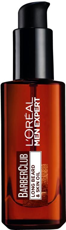 Масло для ухода за бородой и кожей лица - L'Oreal Paris Men Expert Barber Club Long Beard + Skin Oil