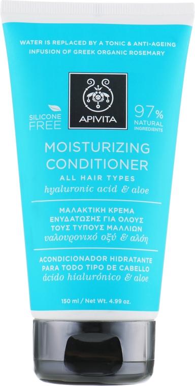 Кондиционер для всех типов волос увлажняющий с гиалуроновой кислотой и алоэ - Apivita Moisturizing Conditioner For All Hair Types With Hyaluronic Acid & Aloe