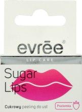 Духи, Парфюмерия, косметика Сахарный пилинг для губ с ароматом земляники - Evree Sugar Lips