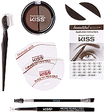 Набір для моделювання брів - Kiss Beautiful Brow Kit — фото N2
