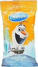 "Духи, Парфюмерия, косметика Влажные салфетки ""Frozen"", 15шт, Олаф - Smile Ukraine Disney"