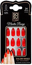Духи, Парфюмерия, косметика Набор накладных ногтей - Sosu by SJ False Nails Long Stiletto Moulin Rouge