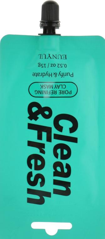 Маска-пленка для сужения пор - Eunyul Clean & Fresh Pore Tightening Peel Off Pack (мини)