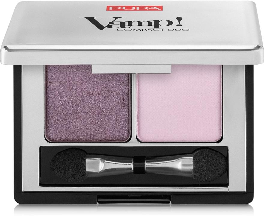 Двойные компактные тени - Pupa Vamp! Compact Duo Eyeshadow
