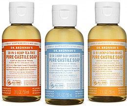 Духи, Парфюмерия, косметика Набор - Dr. Bronner's 18-in-1 Pure Castile Soap (soap/3x60ml)
