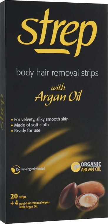 Восковые полоски для депиляции - Strep Argan Oil