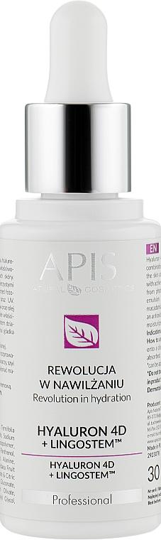 Увлажняющая эмульсия для лица - APIS Professional 4D Hyaluron + Lingostem