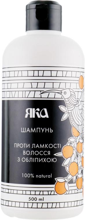 Шампунь-бальзам против ломкости волос с маслом облепихи - Яка