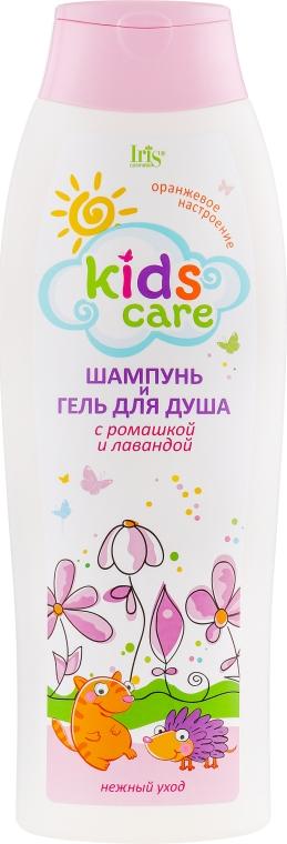 Детский шампунь и гель для душа с ромашкой и лавандой - Iris Cosmetic Kids Care — фото N1