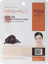 Духи, Парфюмерия, косметика Маска с коллагеном и маслом норки - Dermal Mink Oil Collagen Essence Mask