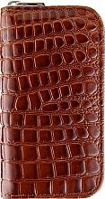 Духи, Парфюмерия, косметика Набор маникюрный 6 предметов, MS-112, коричневая лакированная рептилия - Zauber