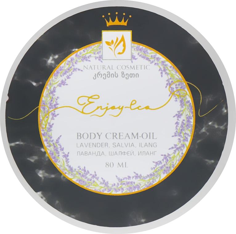 """Натуральное крем-масло для тела """"Лаванда, шалфей и иланг"""" - Enjoy & Joy Enjoy Eco Body Cream-oil"""