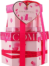 Духи, Парфюмерия, косметика Набор - Grace Cole The Luxury Bathing Peony, Rose & Bergamot (sh/gel/50ml + b/cr/50ml + h/cr/50ml + soap/100g + sponge)