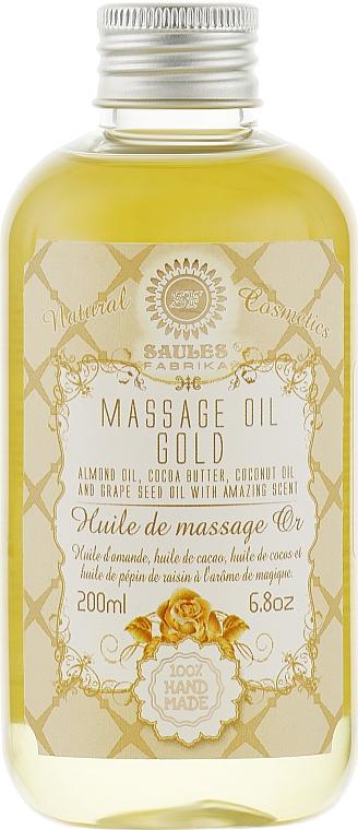 """Массажное масло для тела """"Золото"""" - Saules Fabrika Massage Oil"""