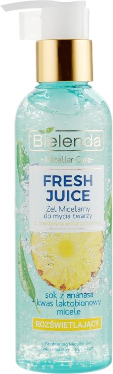 """Мицеллярный гель для умывания """"Ананас"""" - Bielenda Botanic Fresh Juice"""