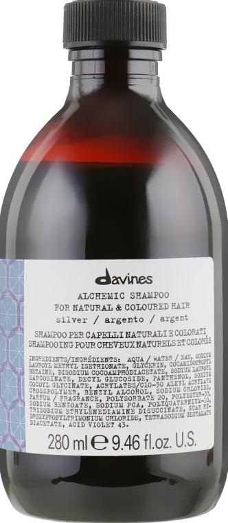 Шампунь для натуральных и окрашенных волос (серебряный) - Davines Alchemic Shampoo
