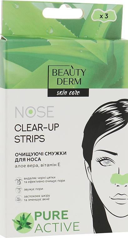 Очищающие полоски для носа с экстрактом Алоэ Вера - Beauty Derm Nose Clear-Up Strips