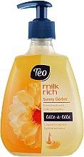 Духи, Парфюмерия, косметика Жидкое глицериновое мыло с увлажняющим действием - Teo Milk Rich Tete-a-Tete Sunny Gerber Liquid Soap