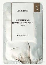 Духи, Парфюмерия, косметика Тканевая маска для лица - Mamonde Flower Essential Mask Magnolia Whitening