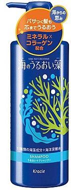 Шампунь восстанавливающий с экстрактами морских водорослей - Kanebo Kracie Umi No Uruoi Sou Shampoo