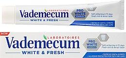 Духи, Парфюмерия, косметика Зубная паста - Vademecum White & Fresh Toothpaste