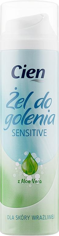 Женский гель для бритья Алоэ вера для чувствительной кожи - Cien Aloe Vera Shaving Gel for Sensative Skin