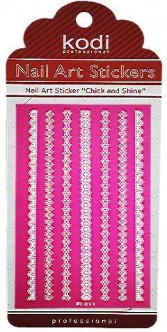 Наклейка для дизайна ногтей - Kodi Professional Nail Art Stickers FL0011