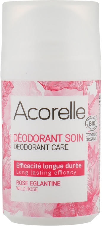 "Роликовый дезодорант-уход ""Дикая роза"" - Acorelle Deodorant Wild Rose Roll On"