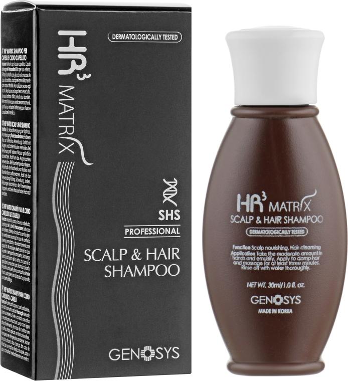 Шампунь от выпадения и для стимуляции роста волос - Genosys HR3 MATRIX Scalp & Hair Shampoo (мини)