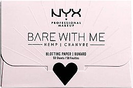 Духи, Парфюмерия, косметика Бумага для матирования лица - NYX Professional Makeup Bare With Me Mattifying Oil Control Paper