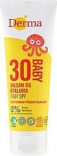 Духи, Парфюмерия, косметика Детский сонцезащитный бальзам с высокой степенью защиты - Derma Eco Baby Sun Screen High SPF30