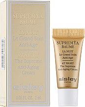 Духи, Парфюмерия, косметика Антивозрастной ночной крем для лица - Sisley Supremya Baume At Night (пробник)
