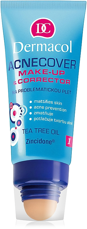 Тональный крем с корректором - Dermacol Acnecover Make-Up and Corrector