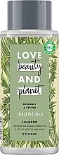 Духи, Парфюмерия, косметика Очищающий шампунь для нормальных и жирных волос - Love Beauty&Planet Delightful Detox Rosemary & Vetiver Vegan Shampoo