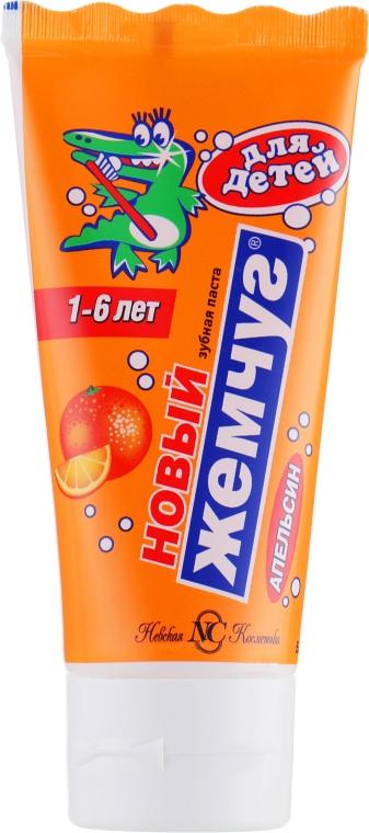 """Детская зубная паста """"Апельсин"""" - Новый Жемчуг — фото N1"""