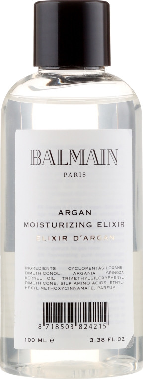 Увлажняющий эликсир с аргановым маслом - Balmain Paris Hair Couture Argan Moisturizing Elixir