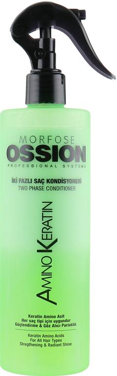 Двухфазный кондиционер для волос с кератином - Morfose Ossion Amino Keratin Two Phase Hair Conditioner