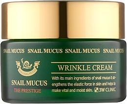 Духи, Парфюмерия, косметика Антивозрастной крем для лица с муцином улитки - 3W Clinic Snail Mucus Wrinkle Cream
