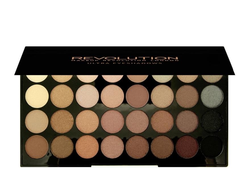 Палетка теней для век, 32 оттенка - Makeup Revolution Ultra 32 Shade Palette Beyond Flawless