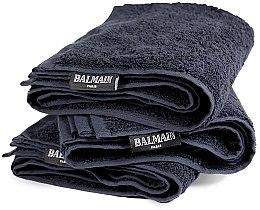 Духи, Парфюмерия, косметика Полотенце для салона 48х80 см, чёрное - Balmain Paris Hair Couture Salon Towel Black
