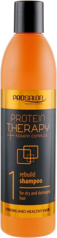 Бессульфатный шампунь для волос - Prosalon Protein Therapy + Keratin Complex Rebuild Shampoo