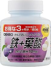 Духи, Парфюмерия, косметика Железо и фолиевая кислота - Orihiro Most Chewable Iron & Folic Acid