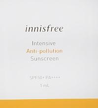 Духи, Парфюмерия, косметика Солнцезащитный крем - Innisfree Intensive Anti Pollution Sunscreen SPF50+ PA++++ (пробник)