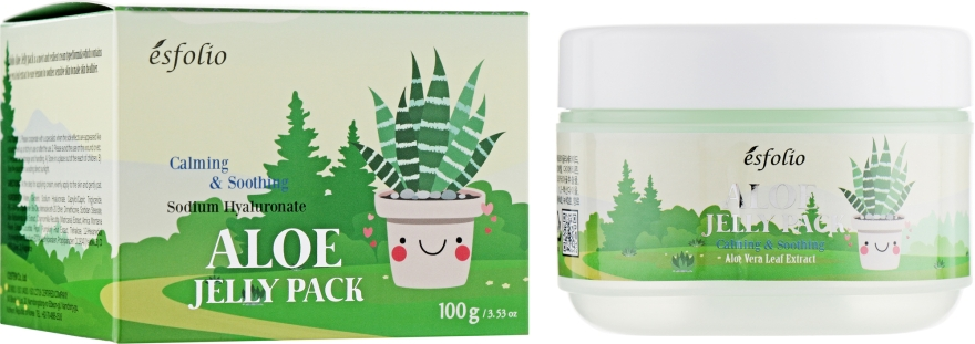 Лифтинг маска с памятью формы с алоэ - Esfolio Aloe Jelly Pack