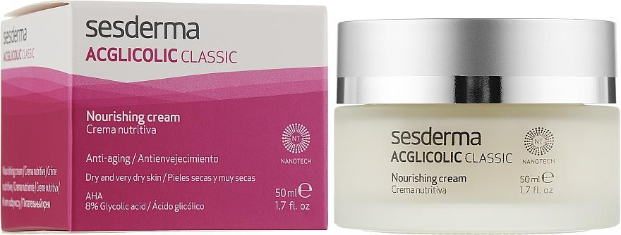 Нічний поживний крем - SesDerma Laboratories Acglicolic Classic Nourising Cream — фото N2