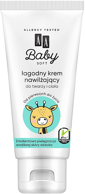 Увлажняющий крем для лица и тела - AA Baby Soft