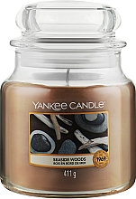 Духи, Парфюмерия, косметика Ароматическая свеча в банке - Yankee Candle Seaside Woods