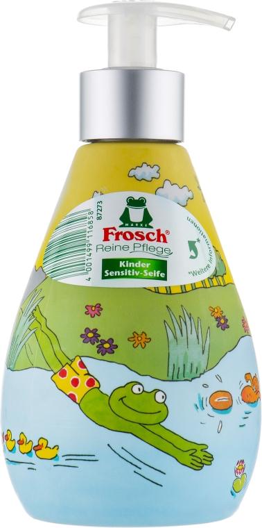 Детское жидкое мыло с дозатором - Frosch Kids Sensitive Soap